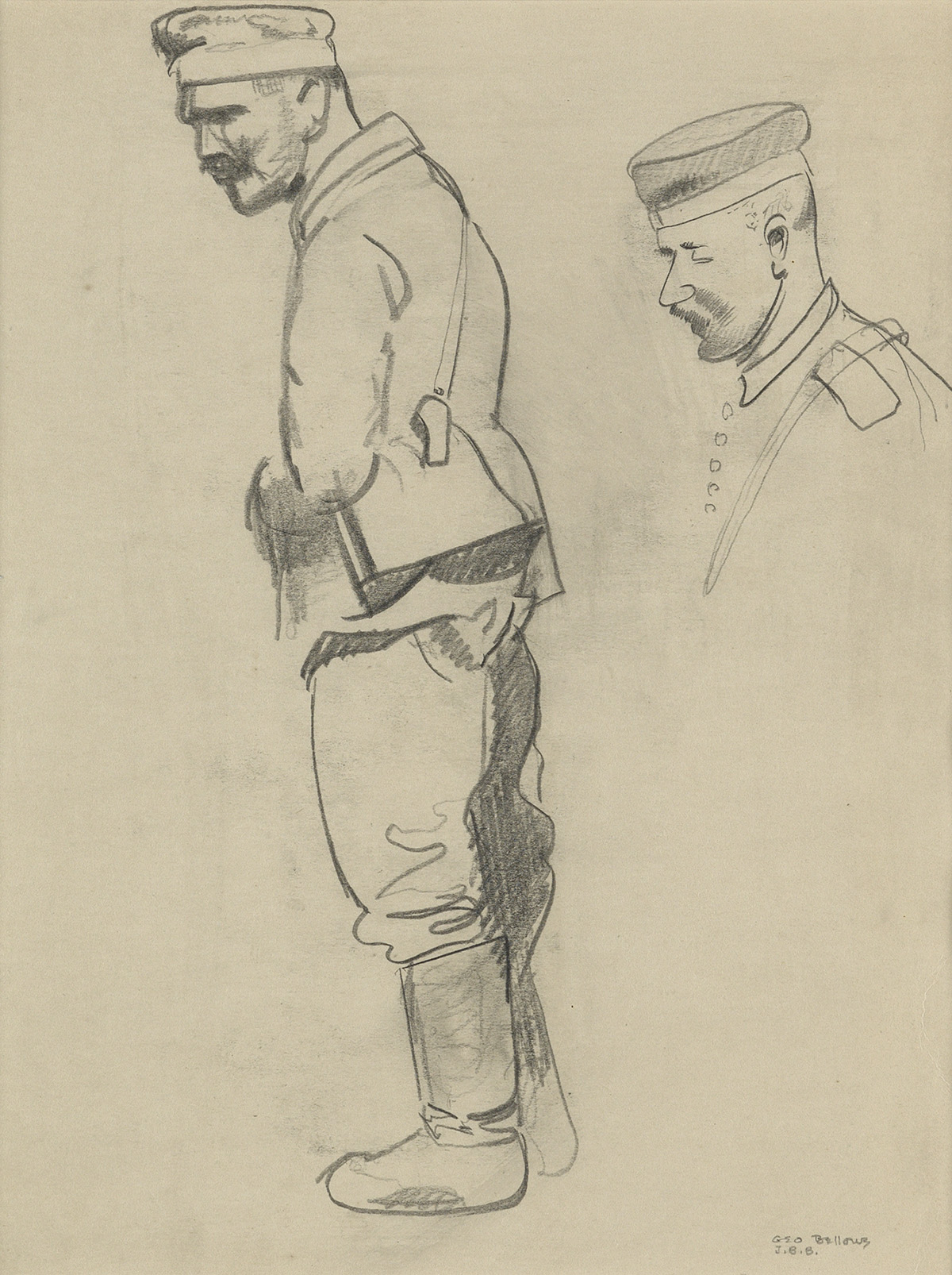 GEORGE-BELLOWS-Studies-of-a-World-War-I-Soldier