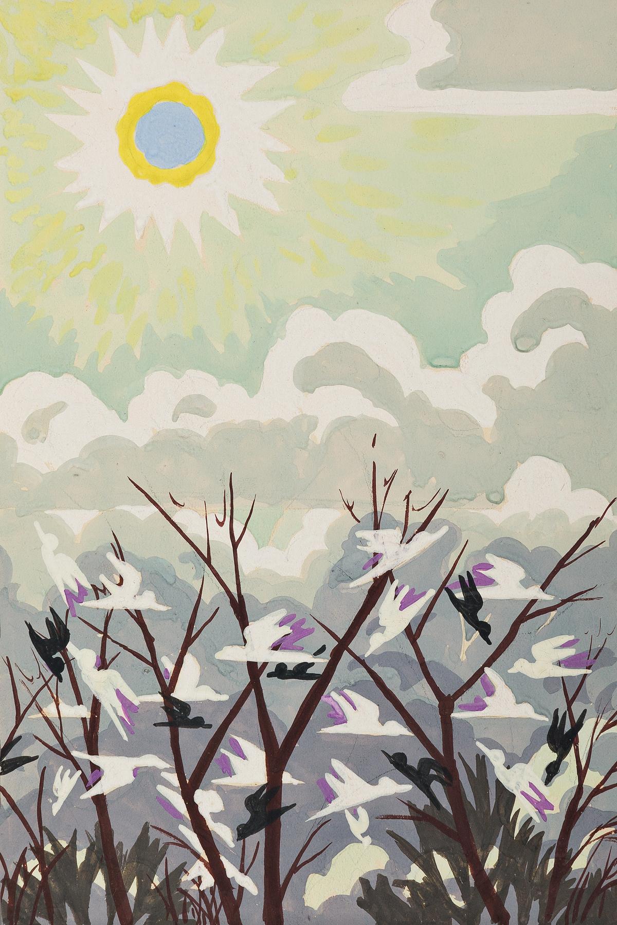 CHARLES-BURCHFIELD-Untitled-(Harmony-in-Nature)