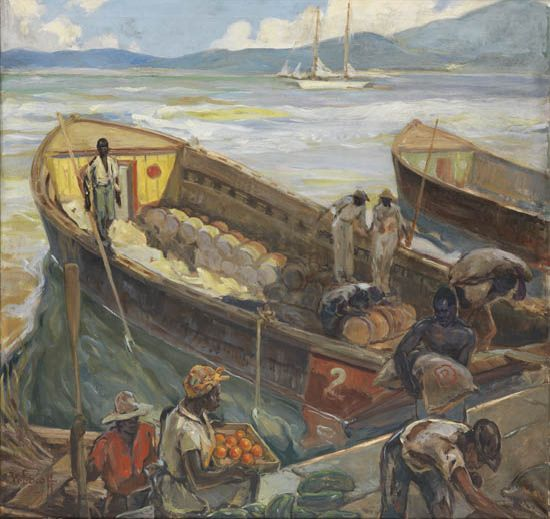 WILLIAM EDOUARD SCOTT (1884 - 1964) When the Tide is Out.