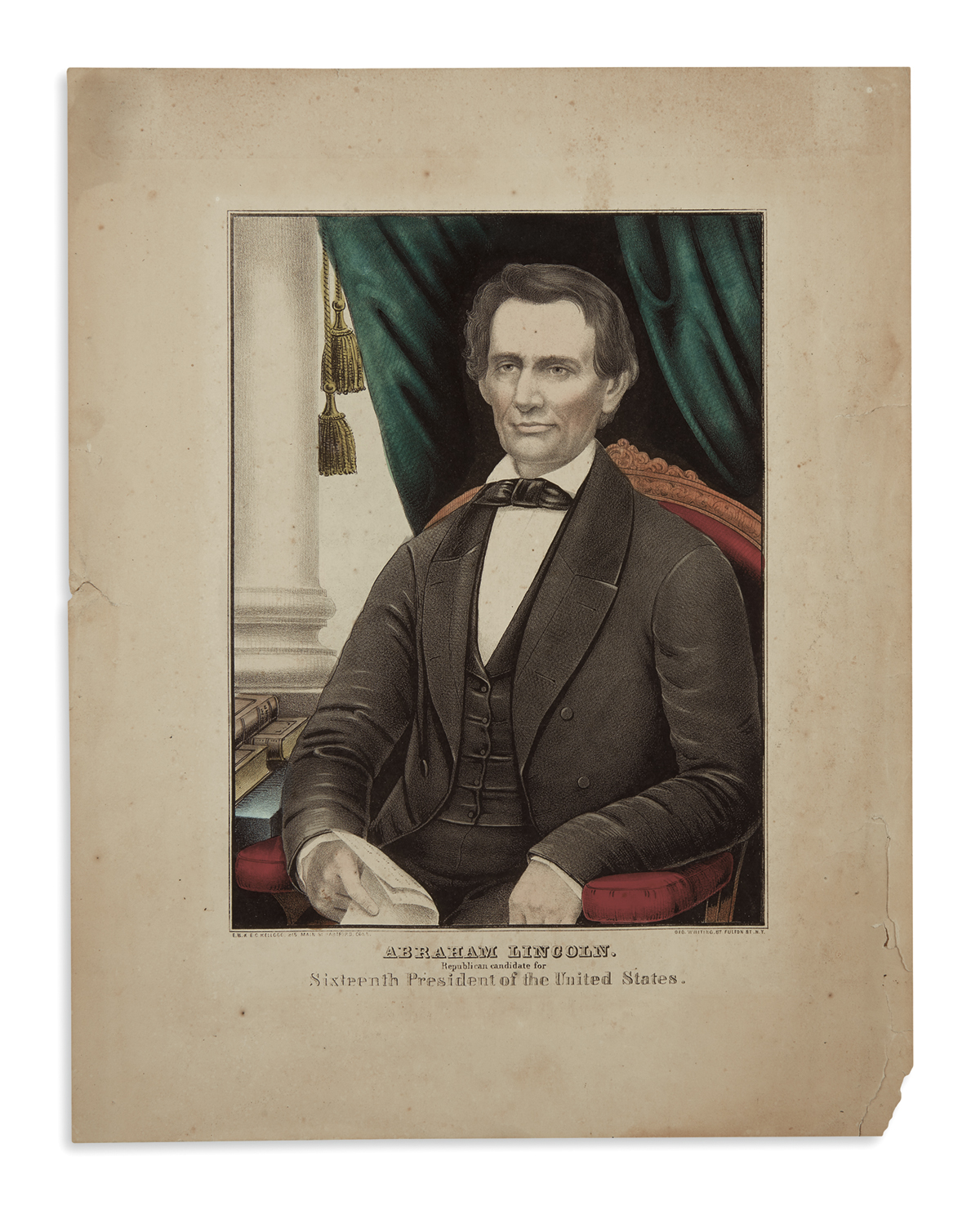 (PRINTS--1860-CAMPAIGN)-Abraham-Lincoln-Republican-Candidate
