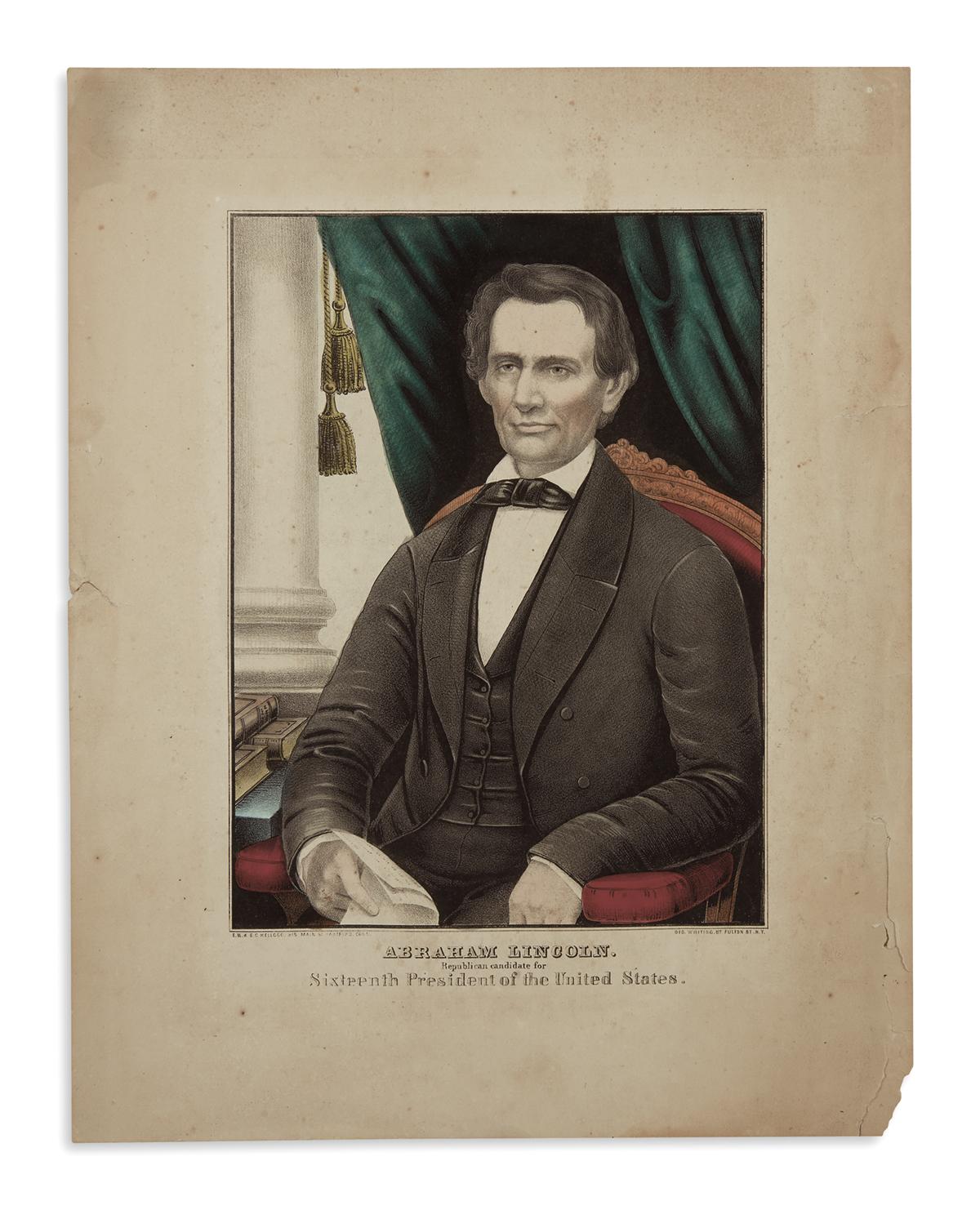 (PRINTS--1860-CAMPAIGN)-Abraham-Lincoln-Republican-Candidate