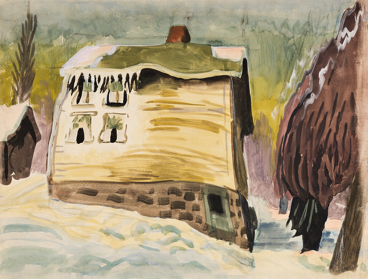 CHARLES-BURCHFIELD-Frozen-House-in-Winter