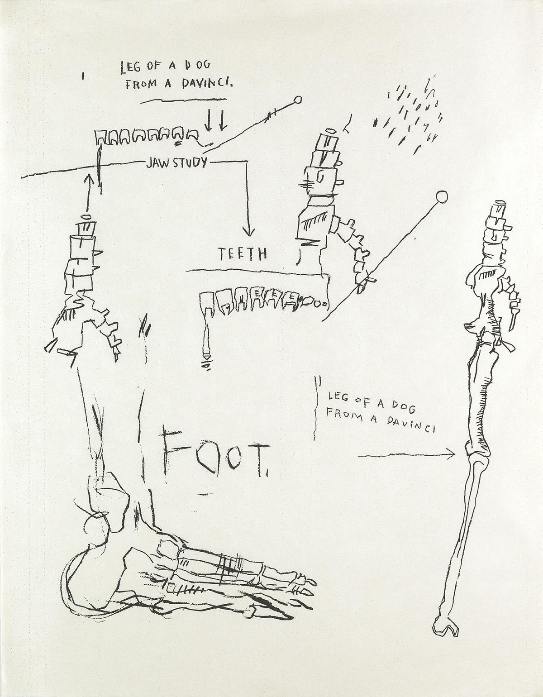 JEAN-MICHEL BASQUIAT Leg of a Dog, from Da Vinci.