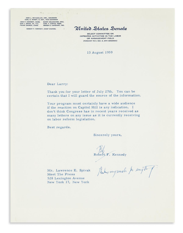 KENNEDY-ROBERT-F-Typed-Letter-Signed-Bob-as-Senator-to-Meet-