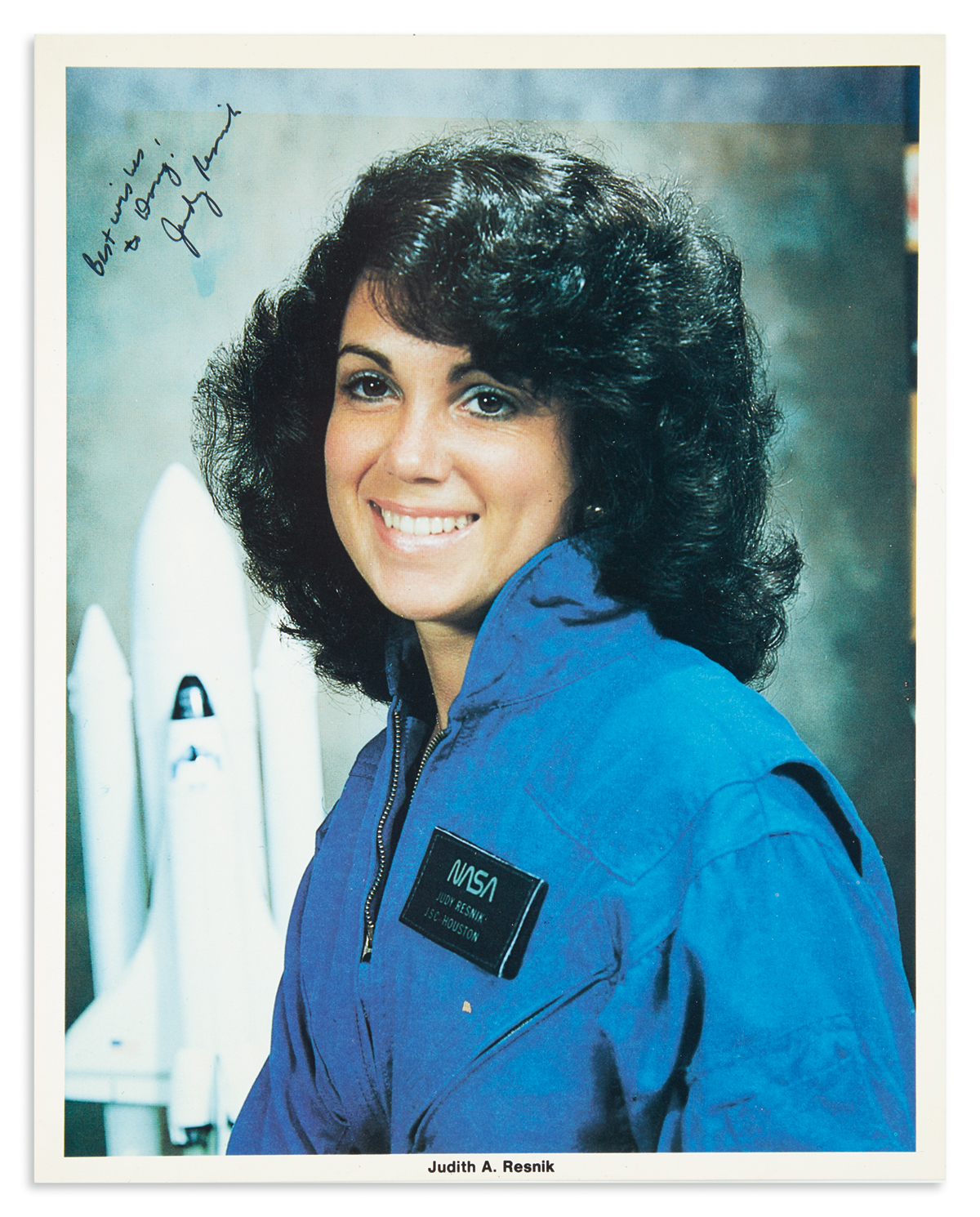 (ASTRONAUTS)-RESNIK-JUDITH-A-Photograph-Signed-and-Inscribed