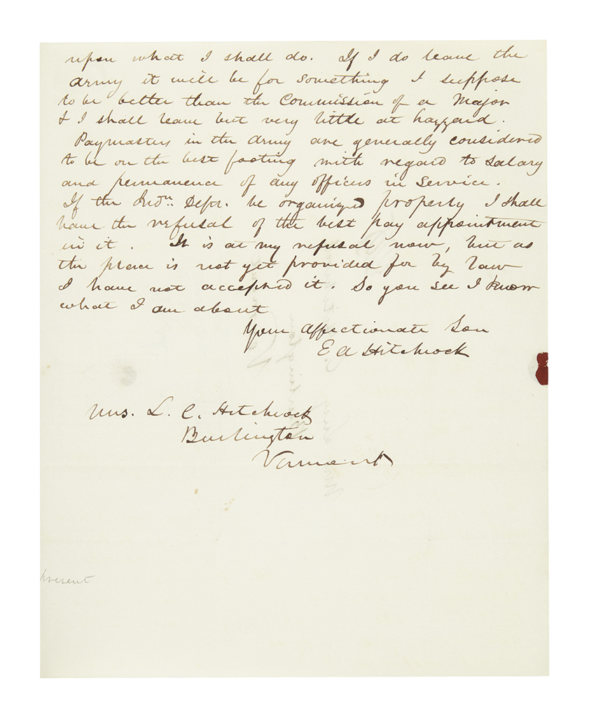 HITCHCOCK-ETHAN-ALLEN-Group-of-4-Autograph-Letters-Signed-E-