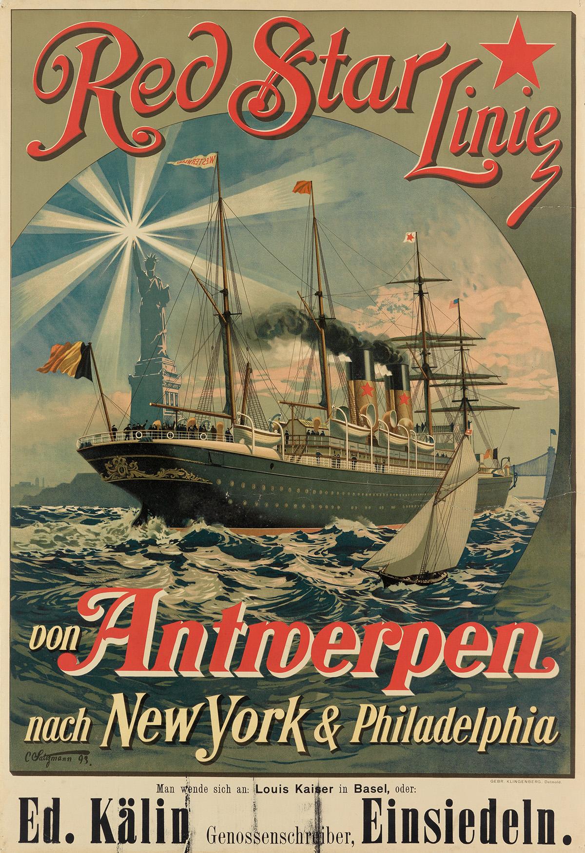 CARL-SALTZMANN-(1847-1923)-RED-STAR-LINE--VON-ANTWERPEN-NACH