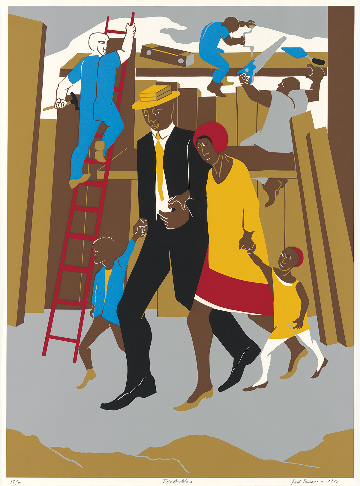 JACOB LAWRENCE (1917 - 2000) The Builders (The Family).