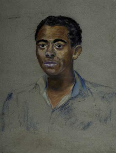BEAUFORD-DELANEY-(1901---1978)-Untitled-(Portrait-of-a-Young