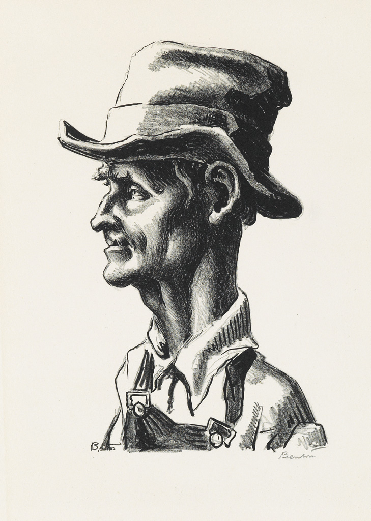 THOMAS HART BENTON Group of 5 lithographs from The Grapes of Wrath.