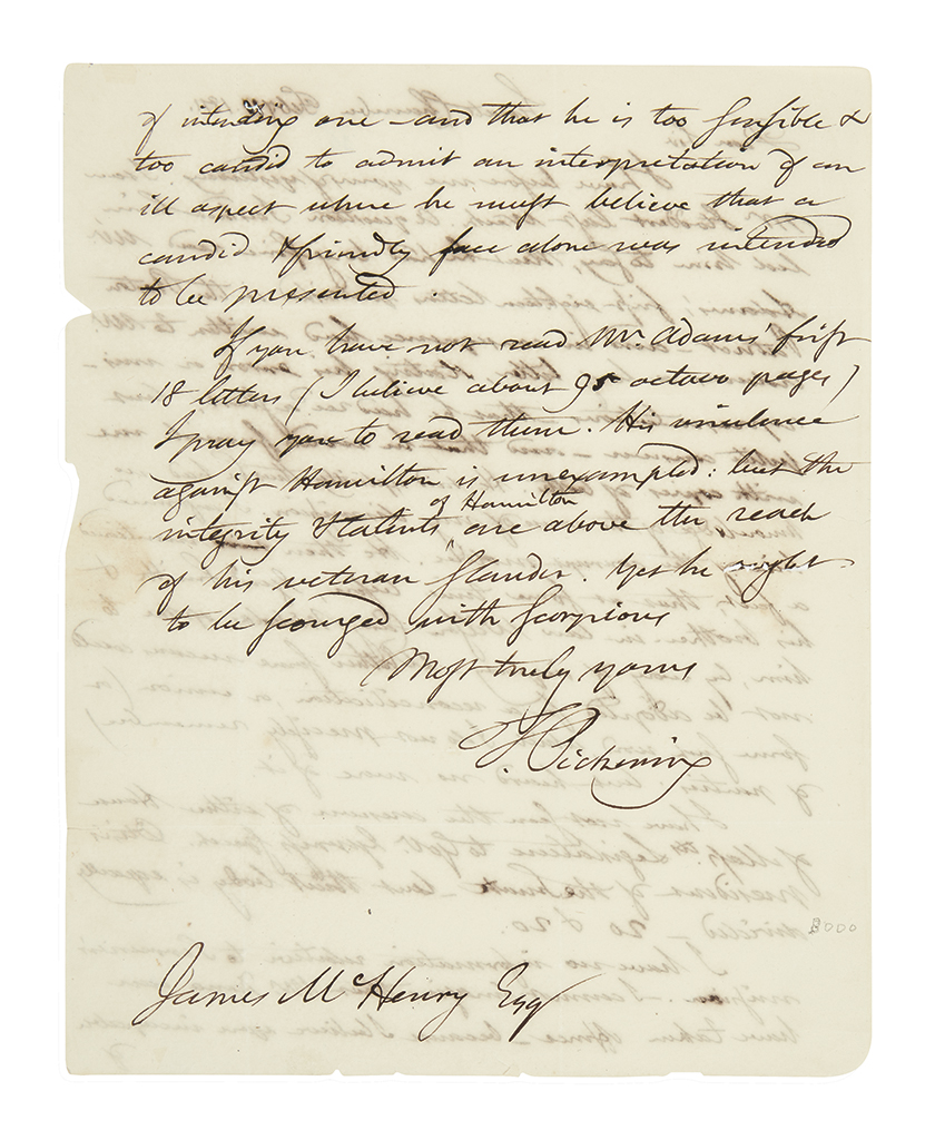 PICKERING-TIMOTHY-Autograph-Letter-Signed-T-Pickering-as-Sen