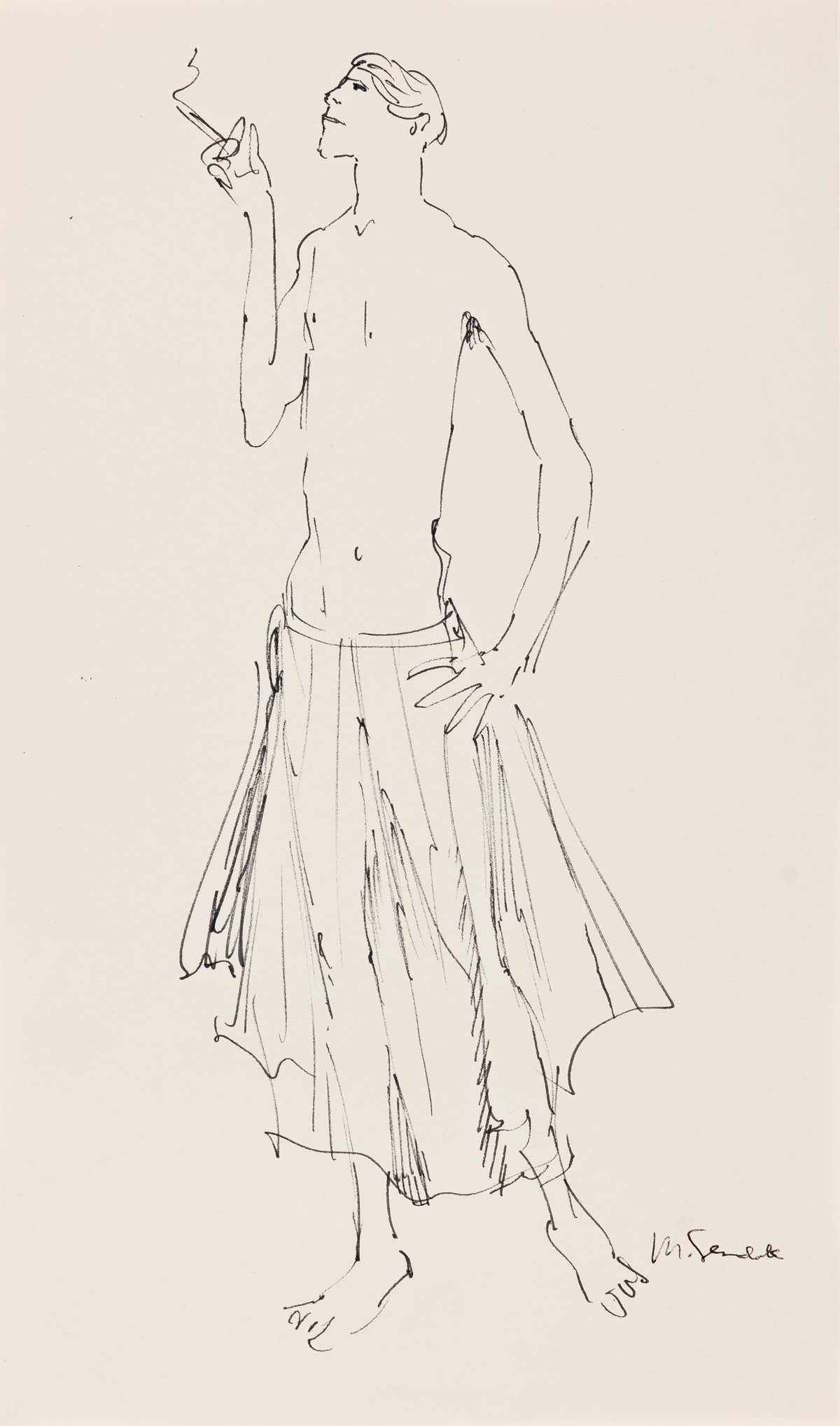 MAURICE-SENDAK-(1928-2012)-Fashion-study-for-Fire-Island-Tim