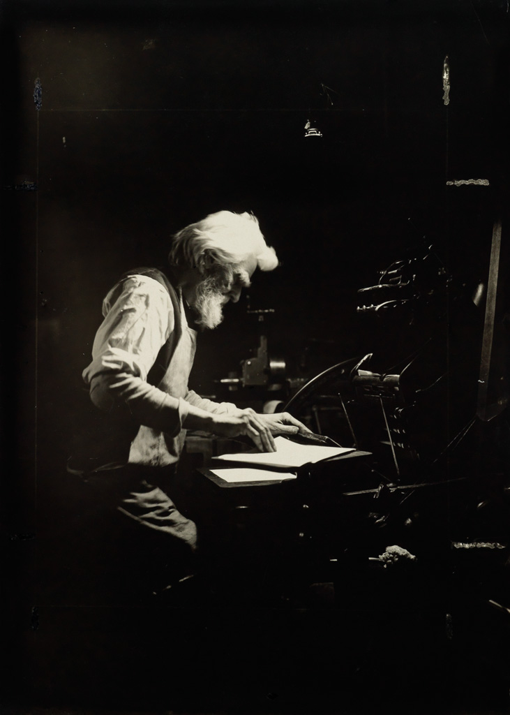 LEWIS W. HINE (1874-1940) Printer, Ethical Culture School, New York.