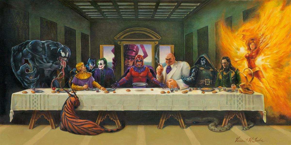 VINCE-McINDOE-Villainous-Last-Supper-DC-Comics