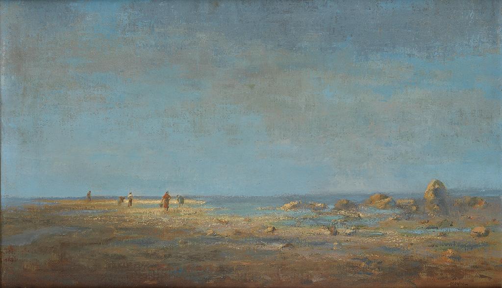 RICHARD MAYHEW (1924 -   ) Untitled (Clam Diggers).