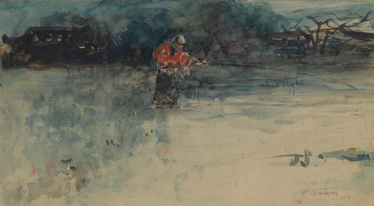 HENRI-SOMM-(Rouen-1844-1907-Paris)-A-Japanese-Fisherman