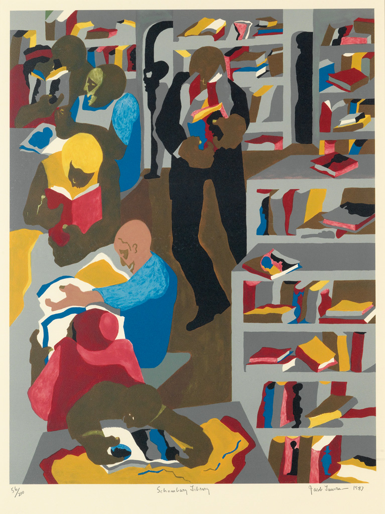 JACOB-LAWRENCE-(1917---2000)-Schomburg-Library
