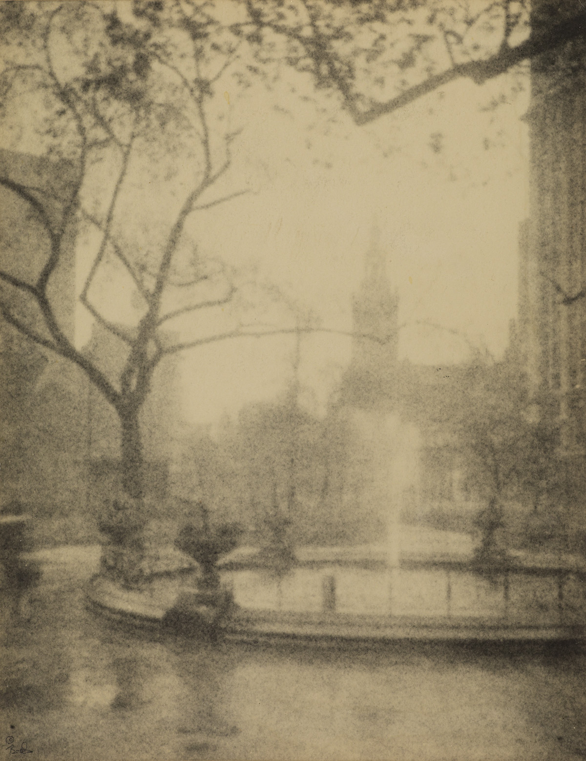 JESSIE-TARBOX-BEALS-(1870-1942)-Madison-Square-at-Dawn-New-Y