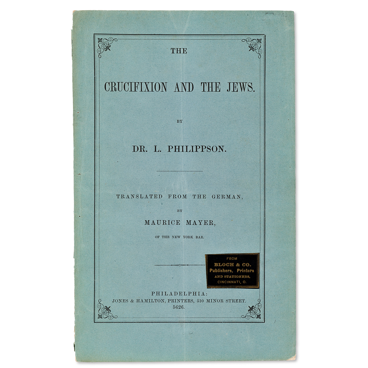 (JUDAICA)-Ludwig-Philippson-The-Crucifixion-and-the-Jews