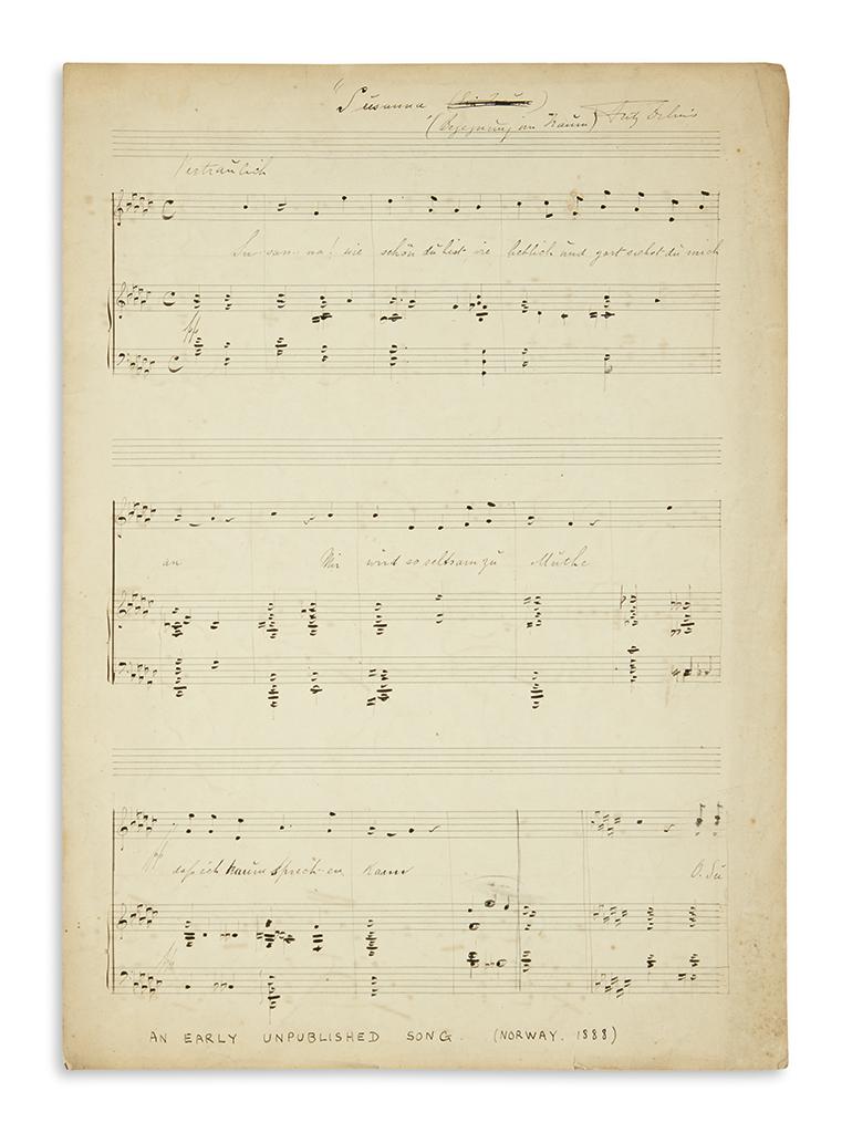 DELIUS-FREDERICK-Autograph-Musical-Manuscript-Signed-Fritz-D