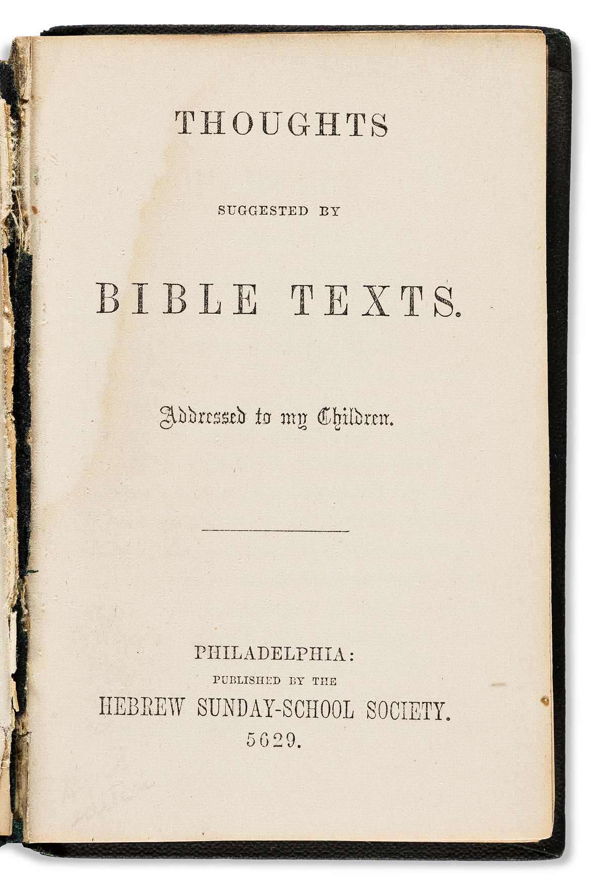(JUDAICA)-[Isaac-Leeser;-editor]-Thoughts-Suggested-by-Bible