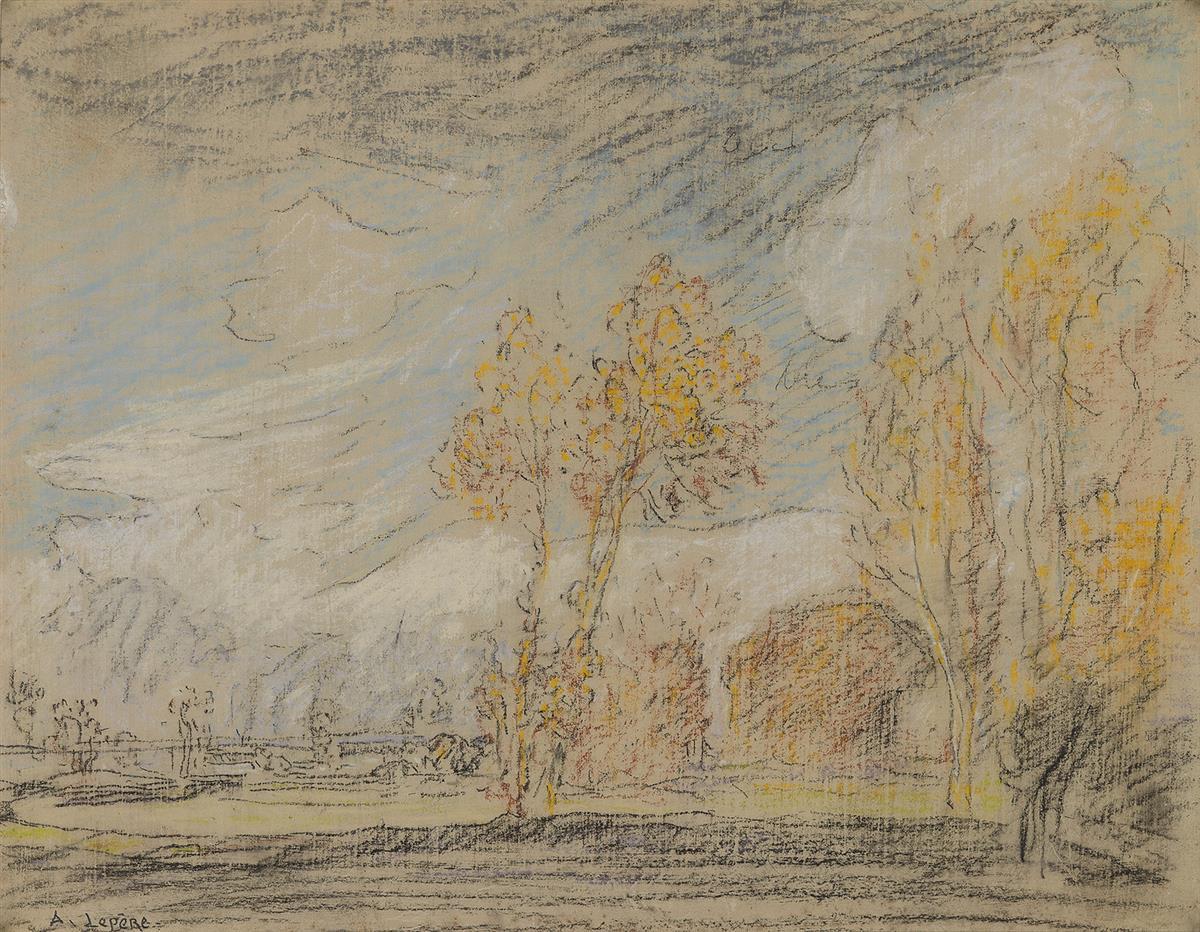AUGUSTE-LOUIS-LEPÈRE-(Paris-1848-1918-Domme)-An-Autumnal-Lan