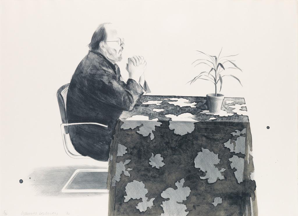DAVID HOCKNEY Henry at Table.
