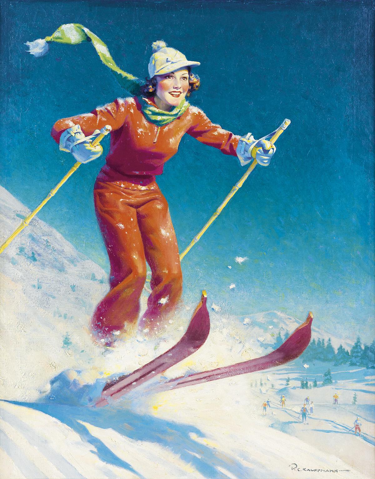 ROBERT KAUFFMANN. Hitting the slopes.