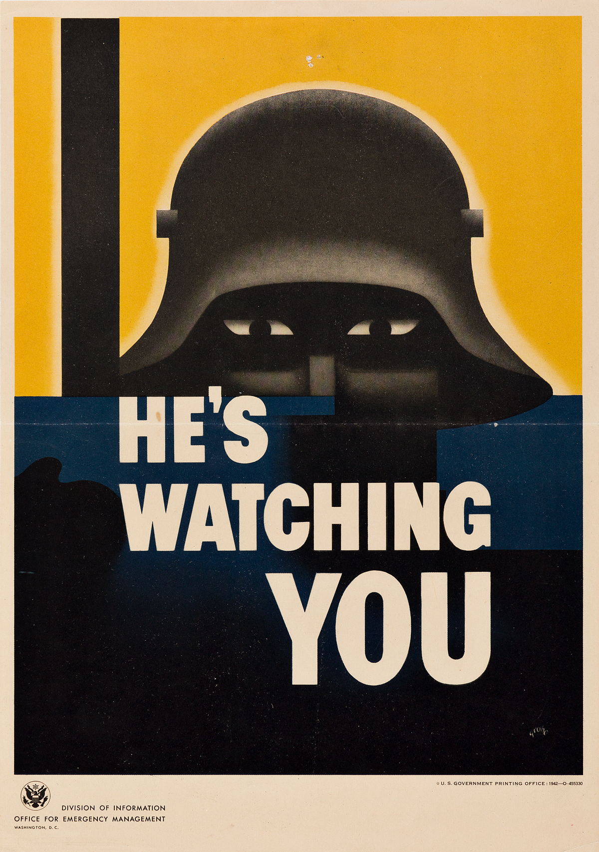 VARIOUS-ARTISTS-[MORE-PRODUCTION--HES-WATCHING-YOU]-Group-of-4-small-format-posters-1942-Sizes-vary-each-approximately-10x7-inch