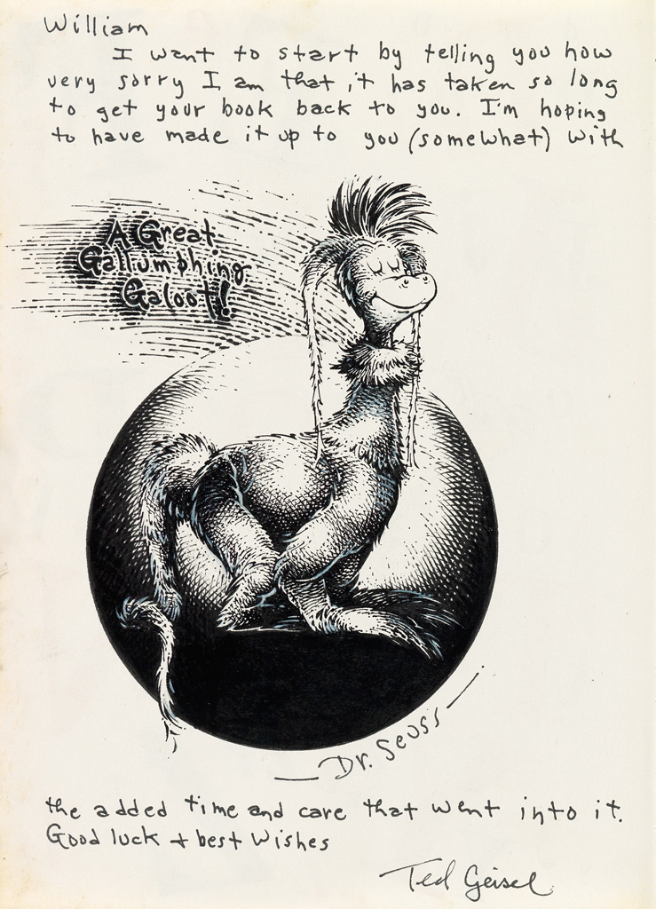 DR. SEUSS [THEODOR GEISEL]. A Great Gallumphing Galoot!