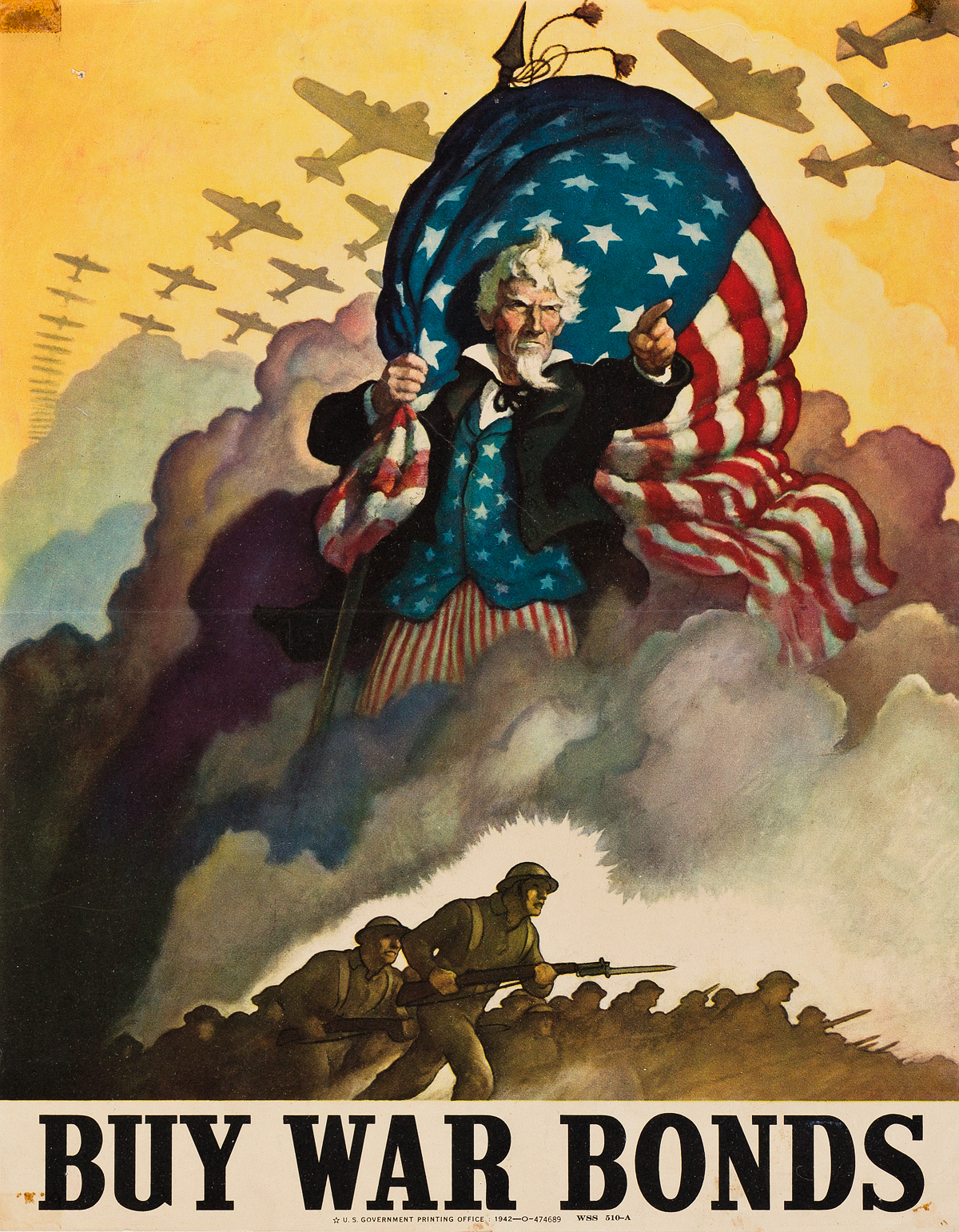 VARIOUS-ARTISTS-[WORLD-WAR-II--WAR-BONDS-LOANS--STAMPS]-Group-of-16-small-format-posters-Circa-1942-Sizes-vary