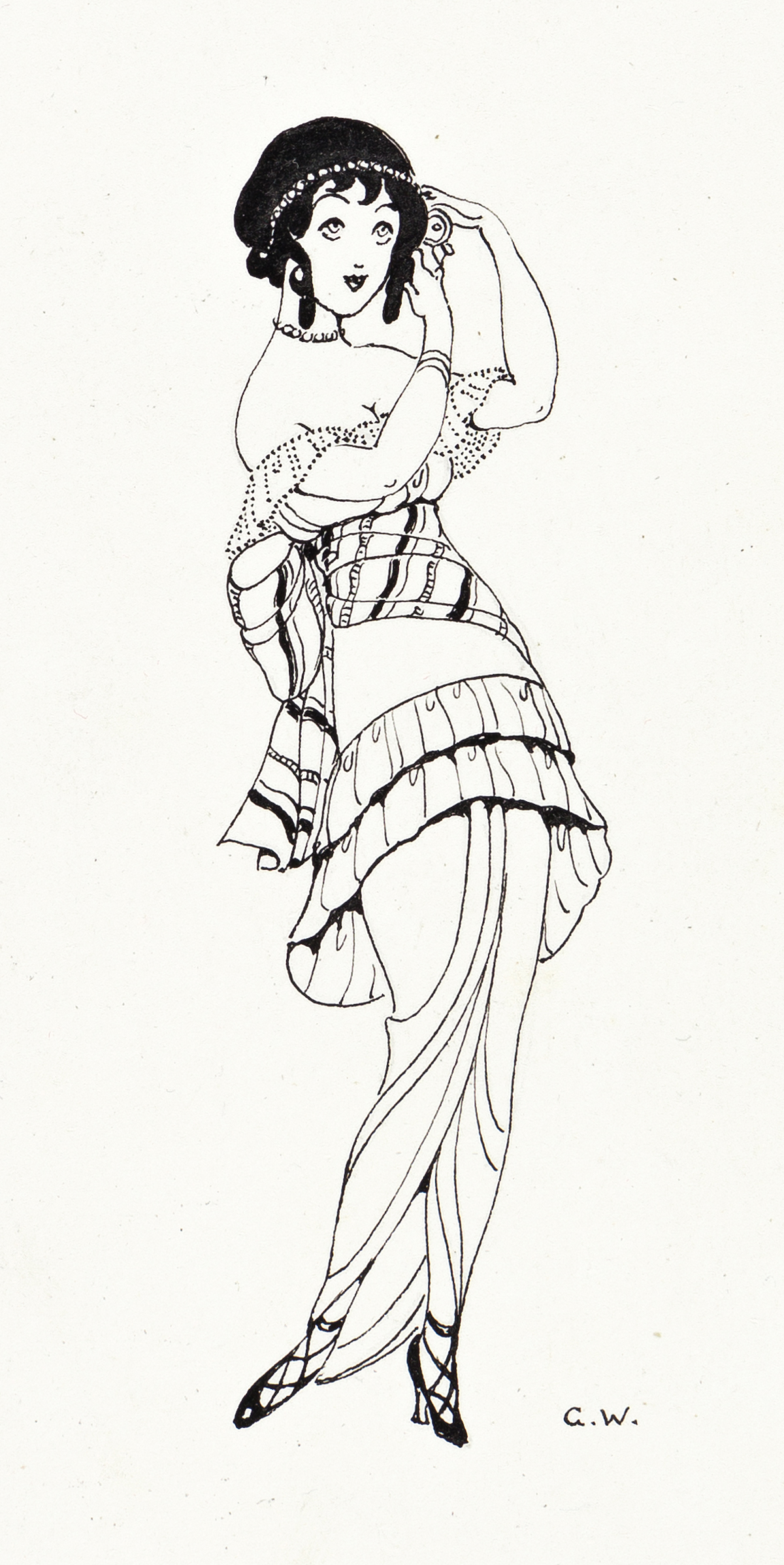 GERDA WEGENER (1886-1940) Girl fixing hair.