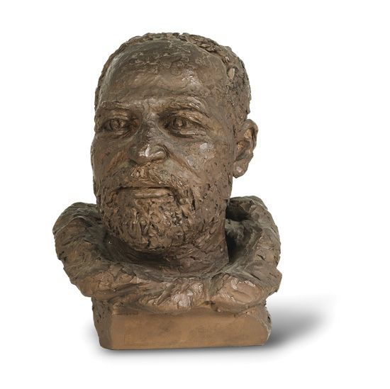 (ART.) HARDISON INGA. Bust of Explorer Matthew Henson.