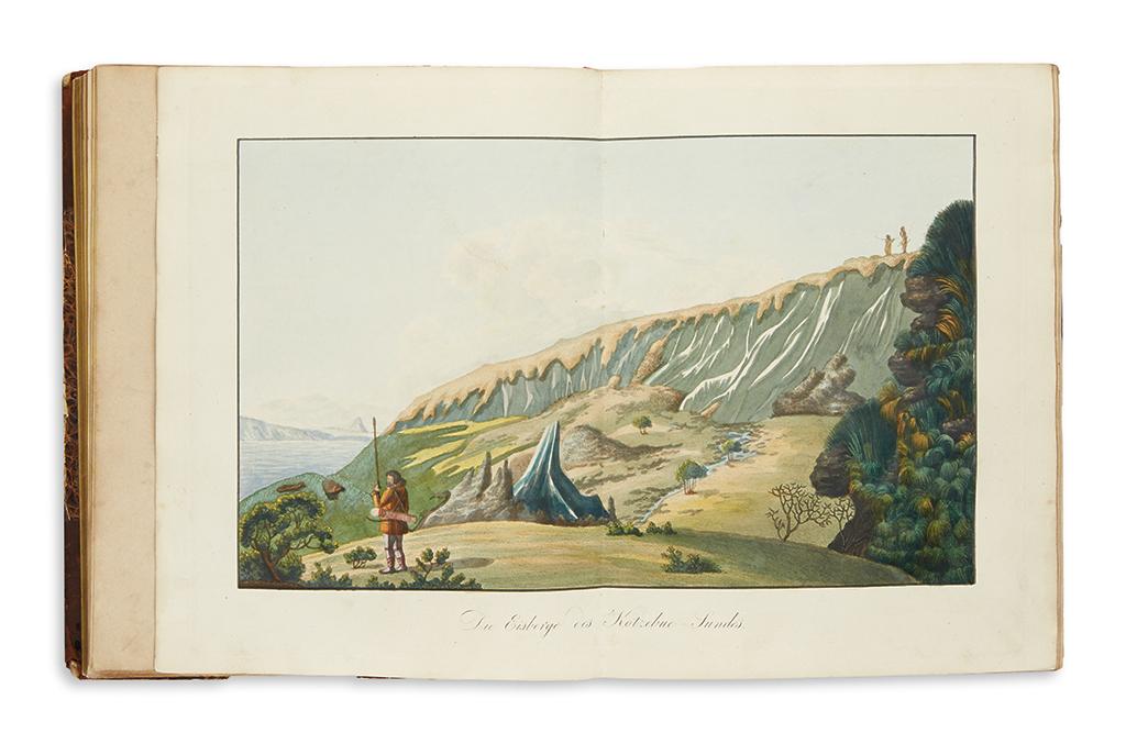(TRAVEL.) Kotzebue, Otto von. Entdeckungs-Reise in die Süd-See und nach der Berings-Strasse