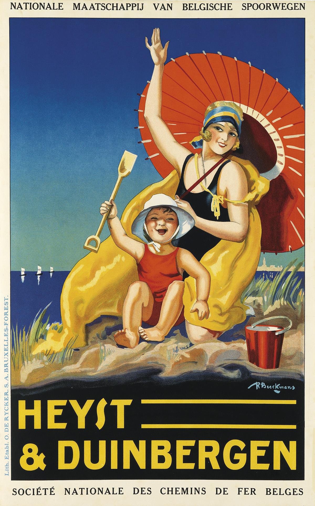 ROGER BERCKMANS (1900-?). HEYST & DUINBERGEN. Circa 1929. 39x24 inches, 99x61 cm. O. De Rycker. S.A., Brussels.