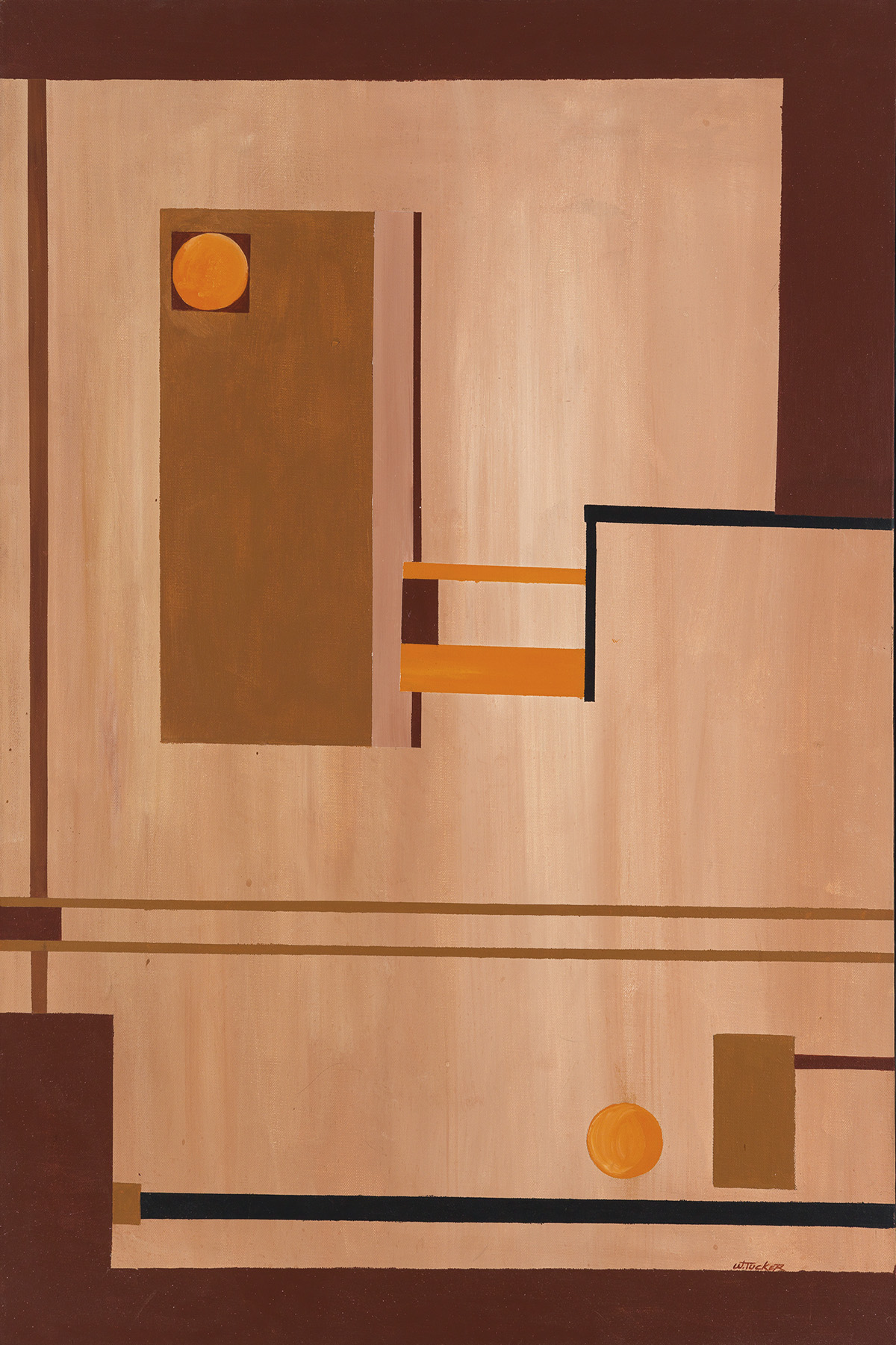 WILLIE TUCKER Untitled (Abstract Composition).