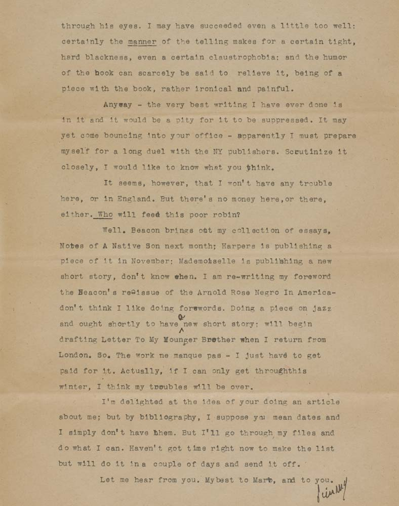 BALDWIN-JAMES-Important-Typed-Letter-Signed-Jimmy