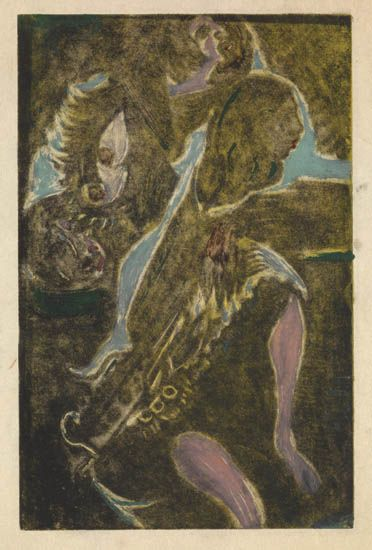 DOX-THRASH-(1892---1965)-Three-Ladies-(Facing-Right)