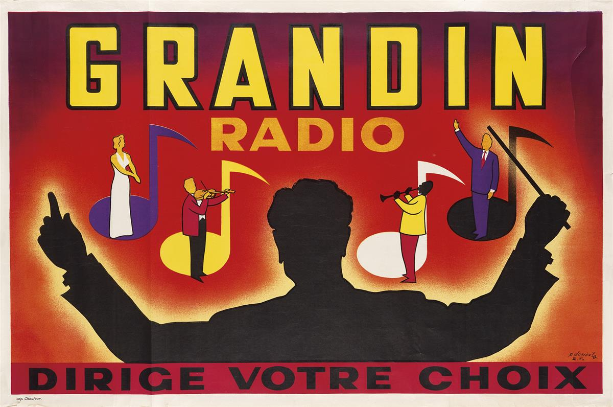 P-DUMONT-(DATES-UNKNOWN)-GRANDIN-RADIO-Circa-1950s-31x47-inc