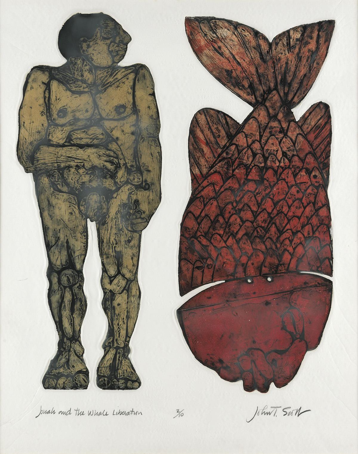 JOHN TARRELL SCOTT (1940 - 2007) Jonah and the Whale - Liberation.