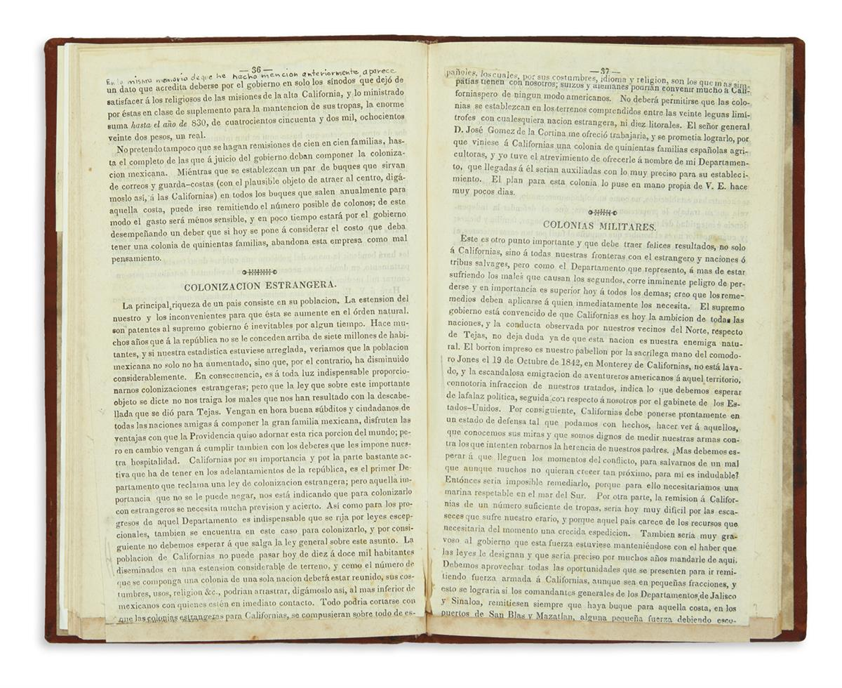 (CALIFORNIA)-Castañares-Manuel-Coleccion-de-documentos-relat