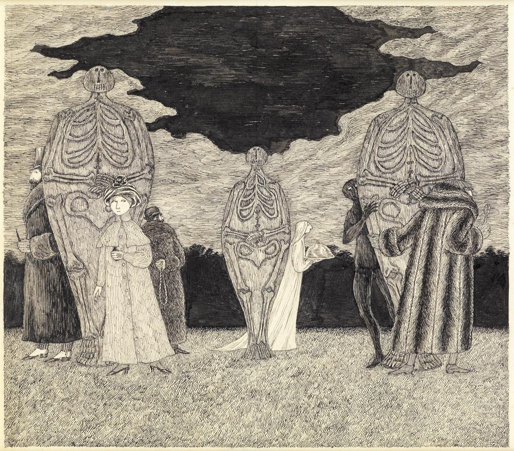 EDWARD GOREY. Skeletons and Hiding Figures.
