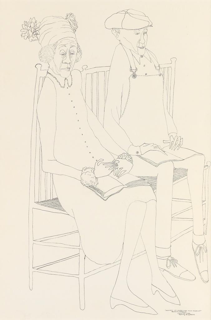 BENNY-ANDREWS-(1930---2006)-Portrait-of-George-and-Viola-Andrews