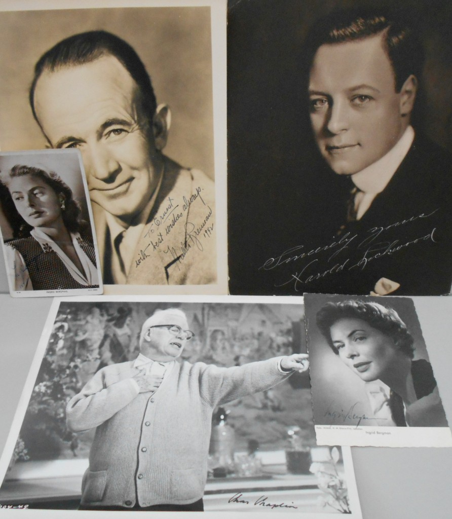 (ENTERTAINERS)-Group-of-5-Photographs-Signed-or-Signed-and-I