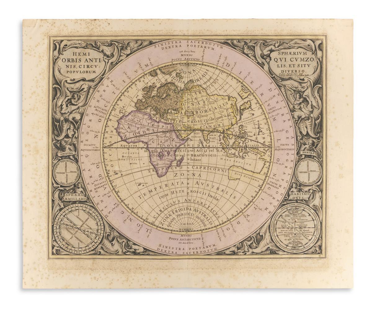 (CELESTIAL)-Cellarius-Andreas-Hemisphaerium-Orbis-Antiqui-Cu