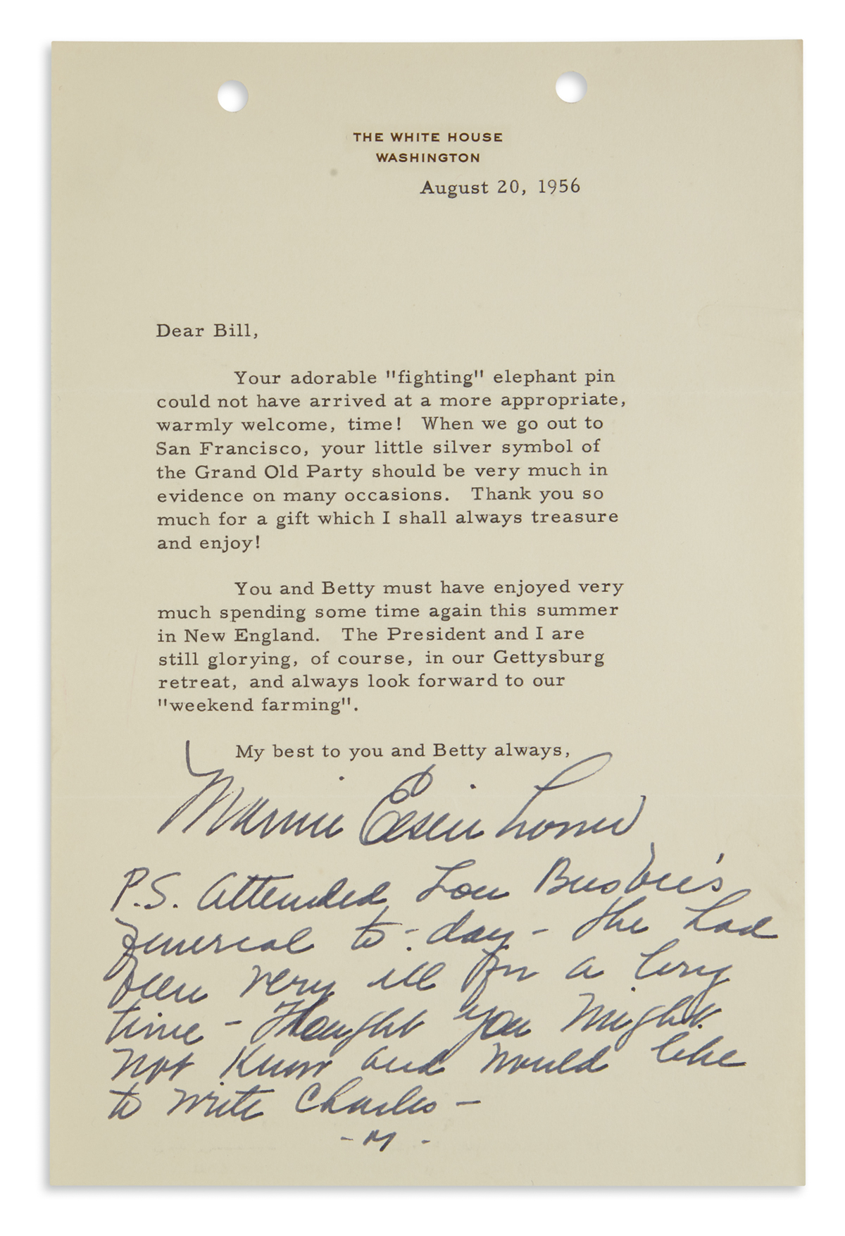 MAMIE-DOUD-EISENHOWER-Typed-Letter-Signed-as-First-Lady-to-W