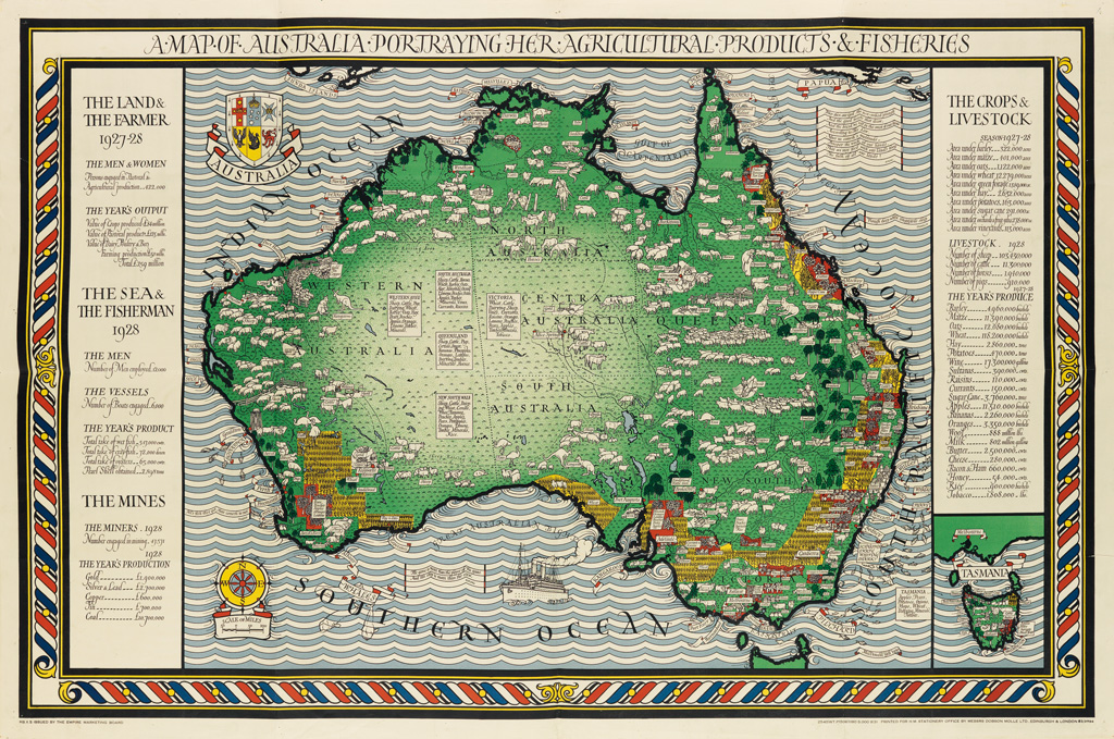 LESLIE-MACDONALD-GILL-(1884-1947)-A-MAP-OF-AUSTRALIA-PORTRAY