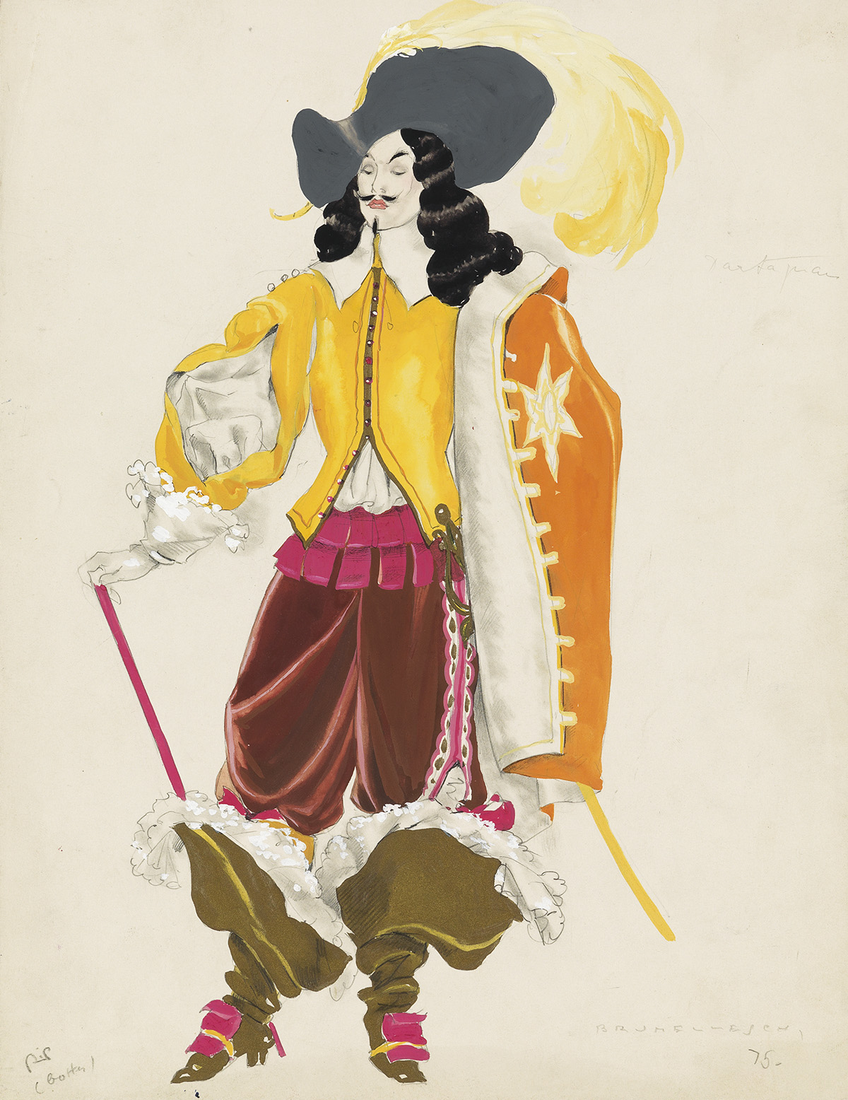 UMBERTO-BRUNELLESCHI--(COSTUME--THEATER)-DArtagnan-and-Madem