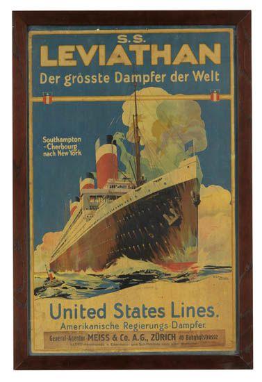 (UNITED STATES LINES.) Leviathan. S. S. Leviathan. Der grösste Dampfer der Welt . . . United State Lines. Amerikanische Regierungs-Da