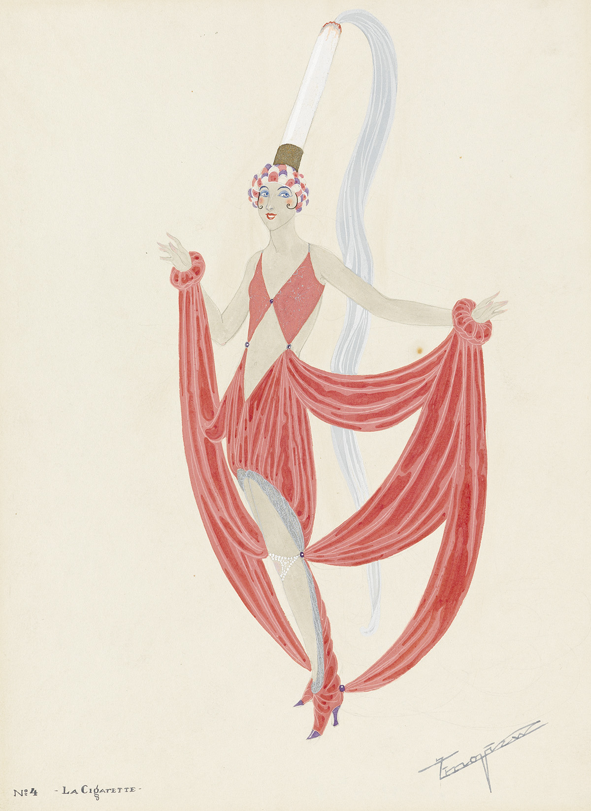 ALEXANDRE-ZINOVIEV-(COSTUME--PARIS--FOLLIES)-La-Cigarette